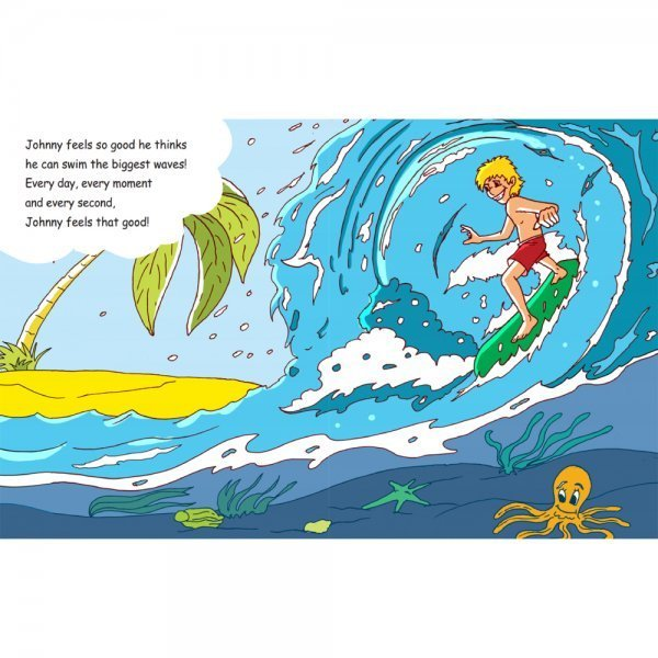 Why Johnny Nucell Feels So Good by Arnold Kauffman - pages 8 and 9 - Fruit-Powered Store