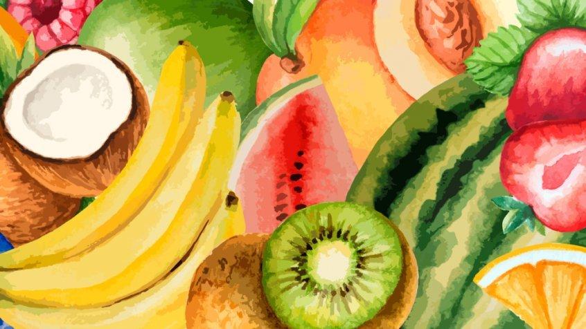 Food combining chart - understanding food combining rules - fruit watercolor - Fruit-Powered