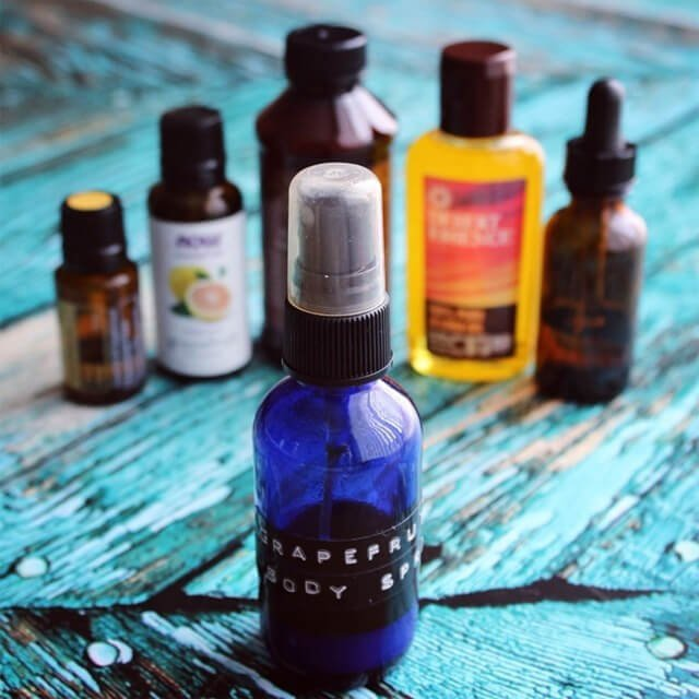 Body spray made from oils