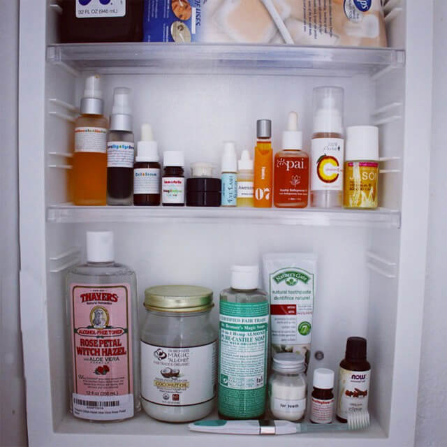 Jenny Lapan's washroom cabinet