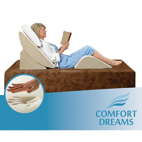 Memory Foam Bed Wedge Pillow - Comfort Dreams Zero-Gravity Adjustable Three-Piece Wedge System - Fruit-Powered Store