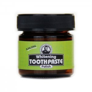Uncle Harry's Natural Products Whitening Toothpaste Polish - front jar - Fruit-Powered Store