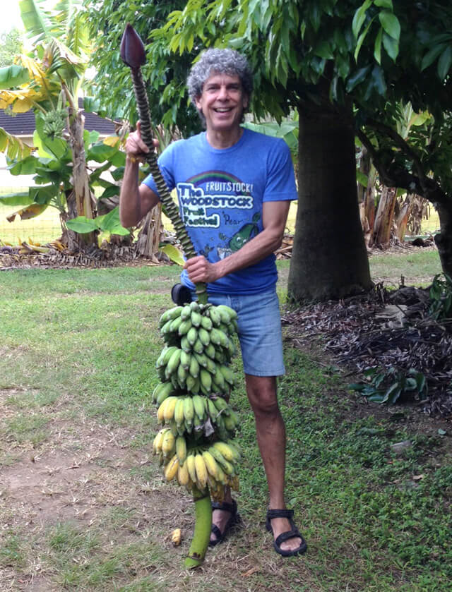 Don Bennett holds Namwah bananas