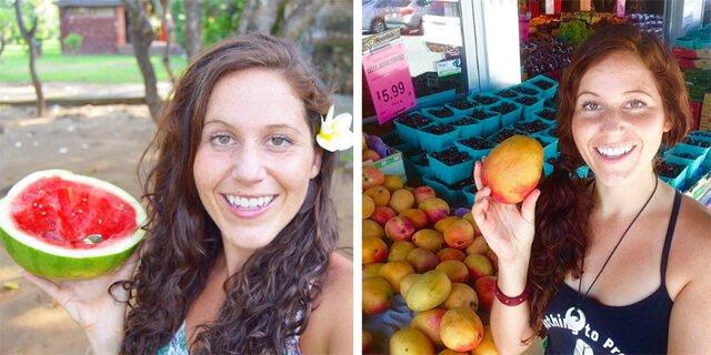Tarah Millen hoists fruits