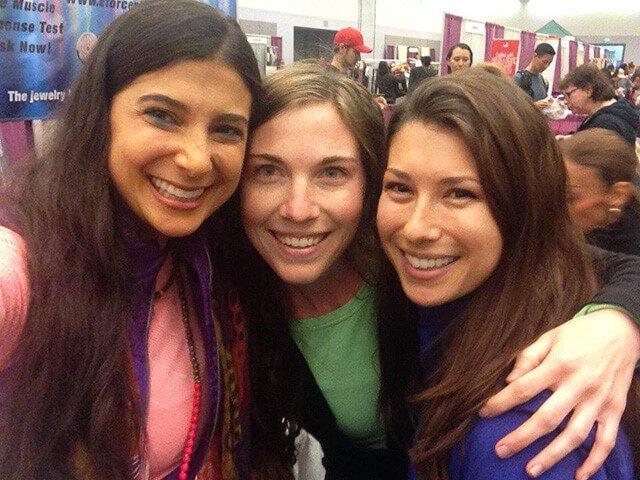 Rawthenticity's Lori Weiss and Nicole Gregg pose with FullyRaw's Kristina Carrillo Bucaram
