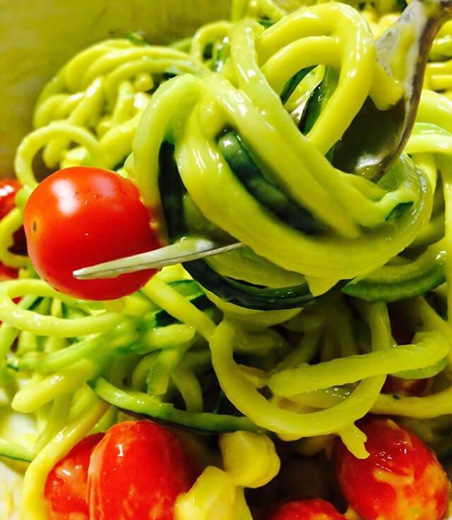 Zucchini spaghetti by Rebecca Rosenberg