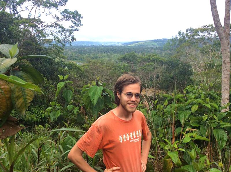 Peter Csere in front of an expansive nature backdrop