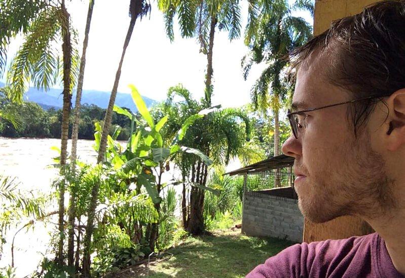 Peter Csere looks away while at Terra Frutis