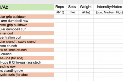 Jennifer Lapan's workout card - 01
