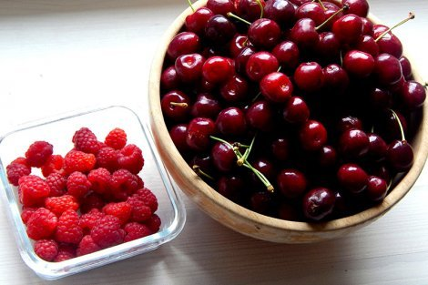 Cherries and raspberries from Petr and Alexandra Cech's garden