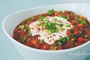 Recipe for Raw Vegan Chili from Melissa Raimondi
