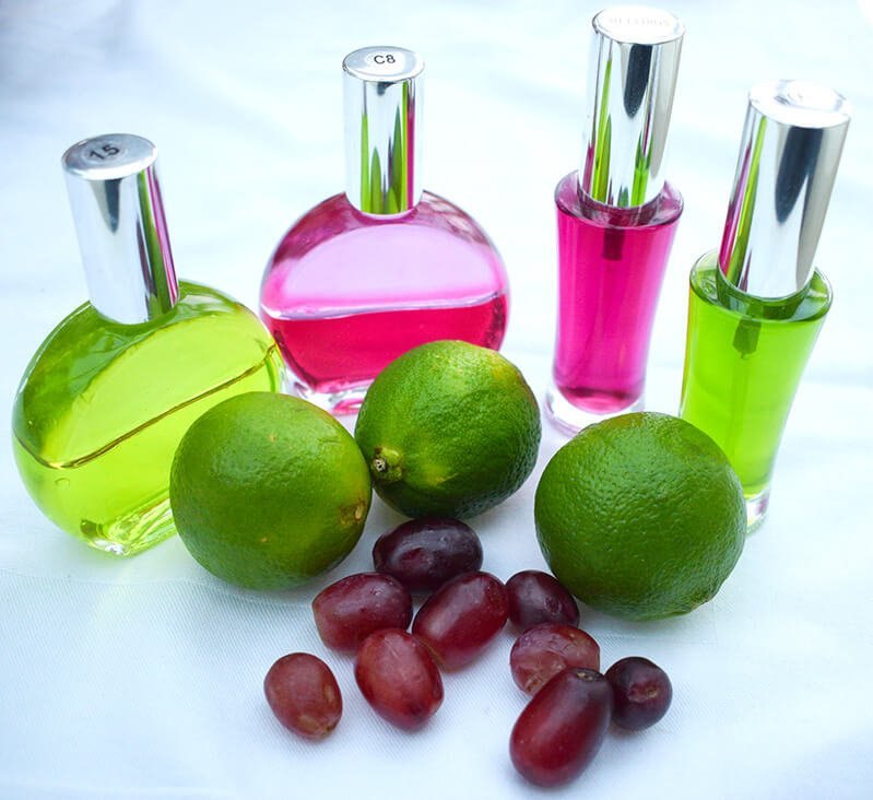 Bright Color Mirrors with limes and grapes