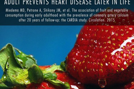 "What the Health strawberry ""Food for Thought"" poster"
