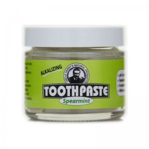 Uncle Harry's Natural Products Toothpaste - natural toothpaste - spearmint - front jar - Fruit-Powered Store