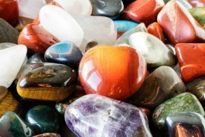 Gemstones in a bowl 300x200 - Gemstones and Crystals Can Raise Our Vibration