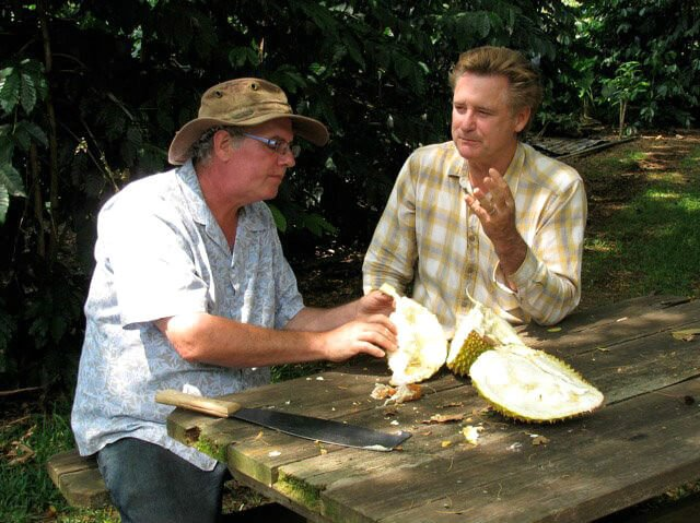 Ken Love eats durian with Bill Pullman