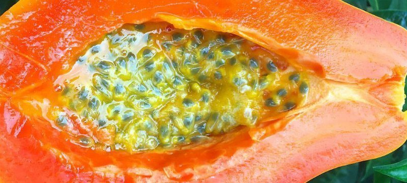 Papaya with Passion Fruit