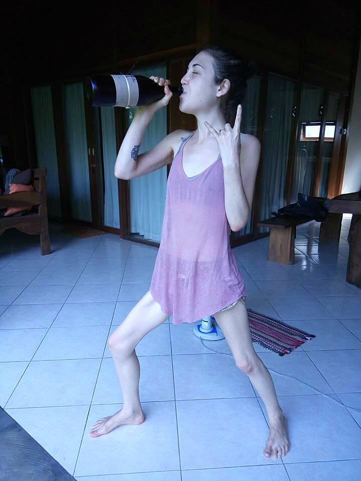 Aliyah Washington enjoys some beet juice - Tips for Transitioning to a Raw Food Diet Intelligently