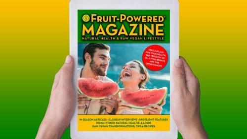 Fruit-Powered Magazine - natural health and raw vegan lifestyle - banner
