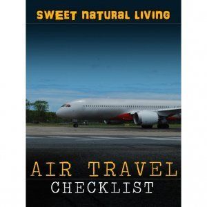 Air Travel Checklist by Mads Gisle Johnsen and Mikkel Gisle Johnsen - Sweet Natural Living - front cover - Fruit-Powered Store