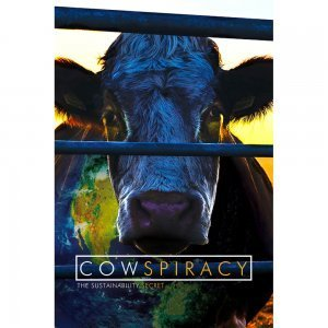 Cowspiracy from Kip Andersen and Keegan Kuhn - front cover - environmental movies - Fruit-Powered Store