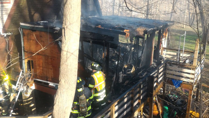 Brian Rossiter cottage fire - exterior