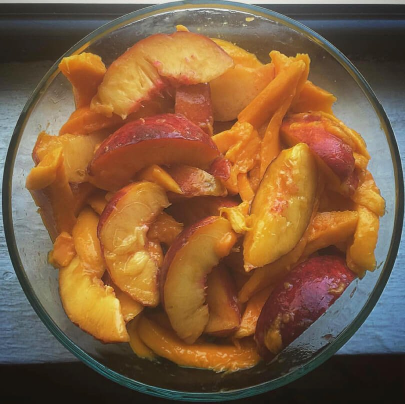 Mango-Peach-Orange Fruit Salad recipe - TJ Long - Raw Vegan Recipes - Fruit-Powered