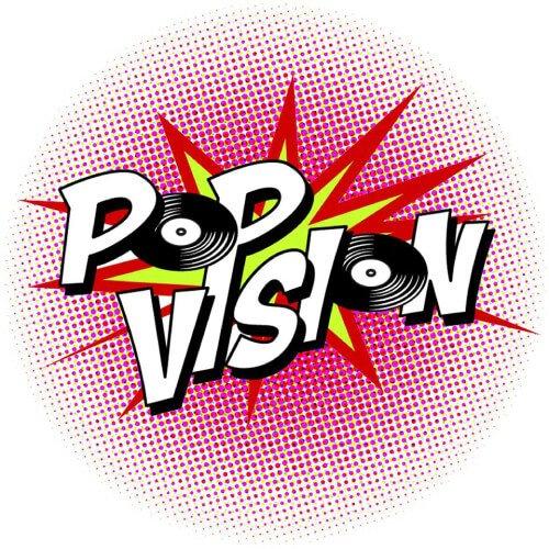 Pop Vision logo - Fruit-Powered