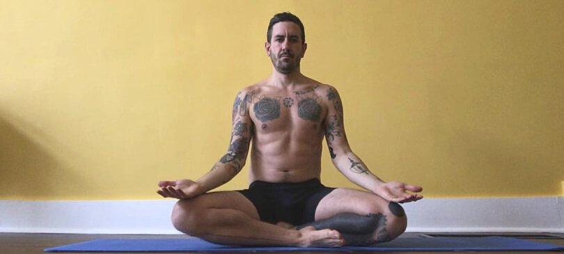 TJ Long meditating - Raw Vegan Transformations - Fruit-Powered