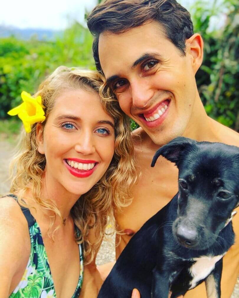 Caileigh Feldman and Brian Russo with puppy Lucia - chronic eczema - topical steroid withdrawal - Fruit-Powered