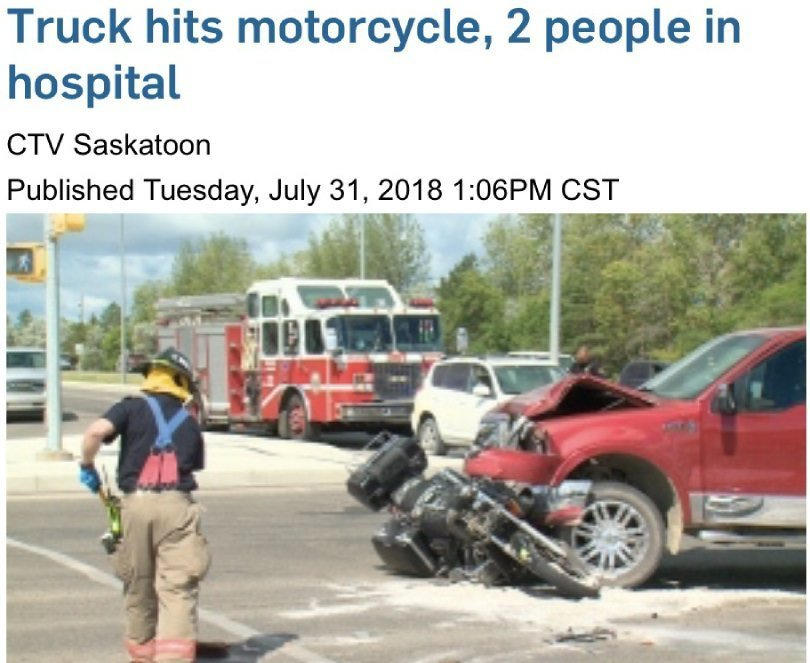 Chris Kendall - motorcycle crash - CTV News clipping - Fruit-Powered