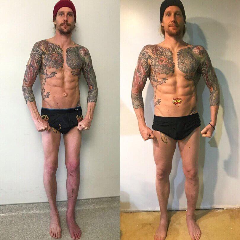 Chris Kendall - rehabilitation after motorcycle crash - Fruit-Powered
