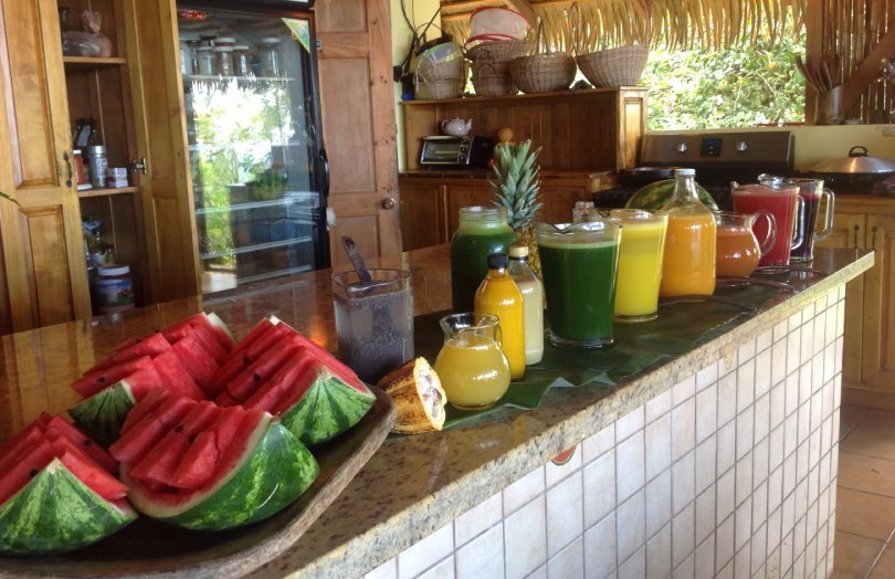 How to host a wellness retreat - juice bar - Fruit-Powered