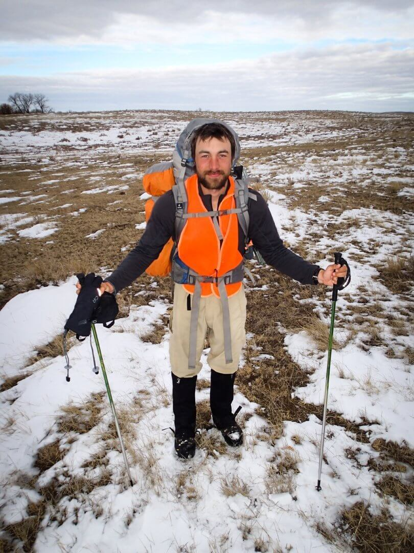 Ken Ilgunas hiking in South Dakota - vandwelling - wanderlust - society - Fruit-Powered