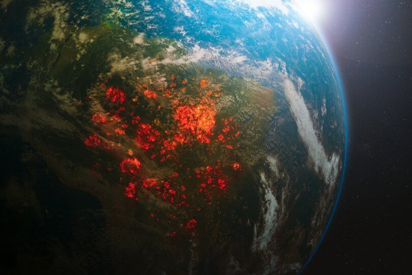 Why you should go vegan for the environment - earth on fire - Fruit-Powered