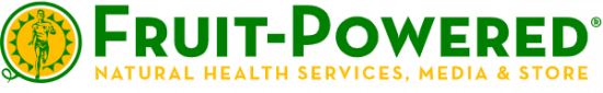 Fruit-Powered logo - natural health services, media and store - sunburst - 2020