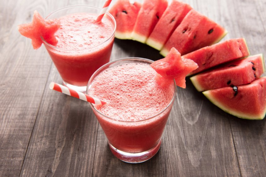 Health transformation - watermelon whole and in smoothies - Fruit-Powered