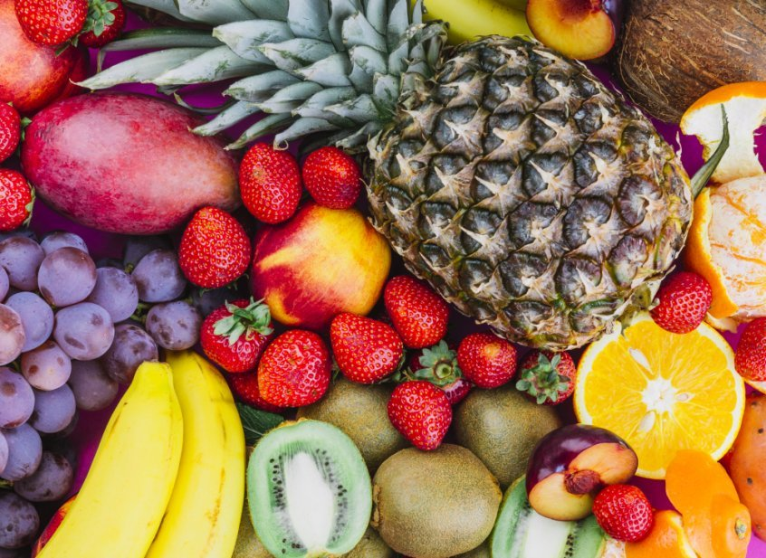 Grapes, strawberries, pineapples, kiwis, apricots, bananas - Fruit-Powered