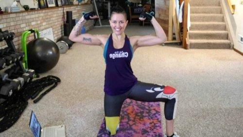 Raw Vegan Transformations - Brenda Vance - eating disorders - flexing muscles - Fruit-Powered