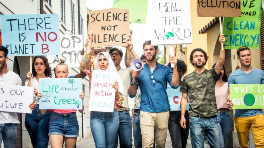Animal agriculture subsidies - climate change protesters - Fruit-Powered