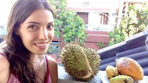 Raw Vegan Transformations - Kristina Poudyal - with durian and mangos - Fruit-Powered