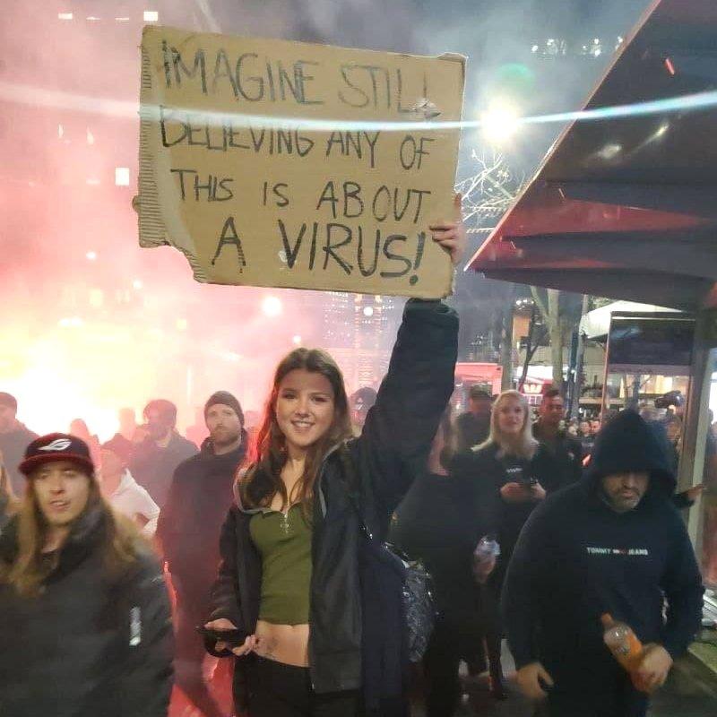 Australian COVID vaccine protester - Fruit-Powered
