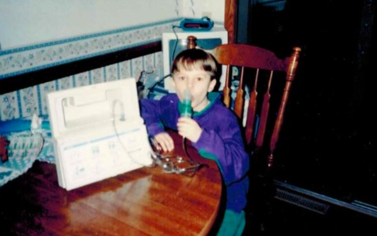 Matt Bennett - as a child with asthma - Fruit-Powered