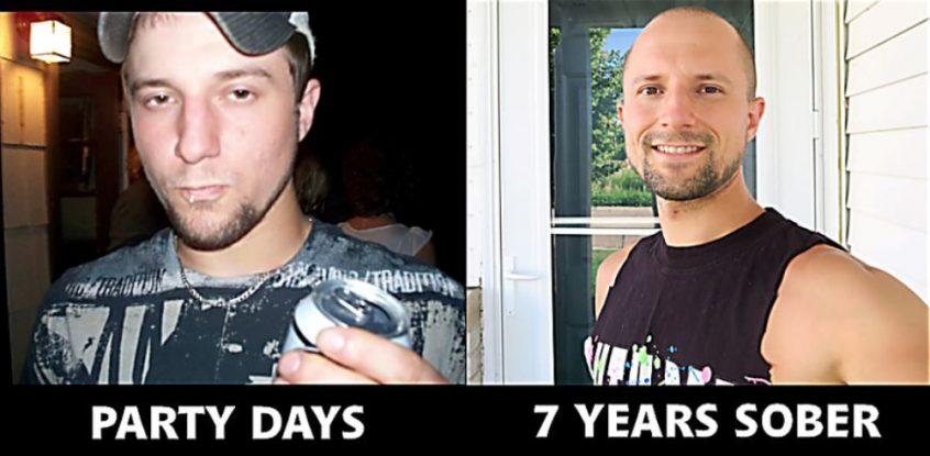 Matt Bennett - party days vs. seven years sober - Fruit-Powered