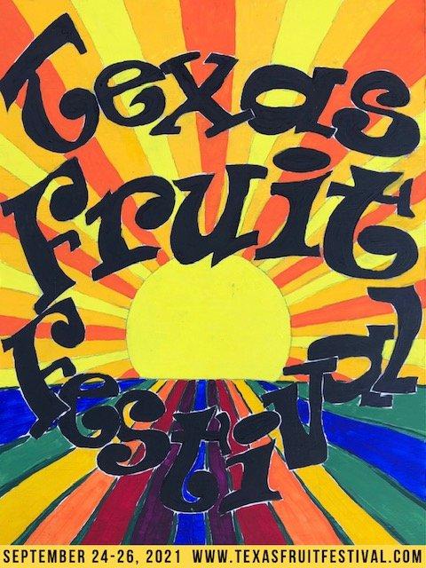 Texas Fruit Festival poster - Fruit-Powered